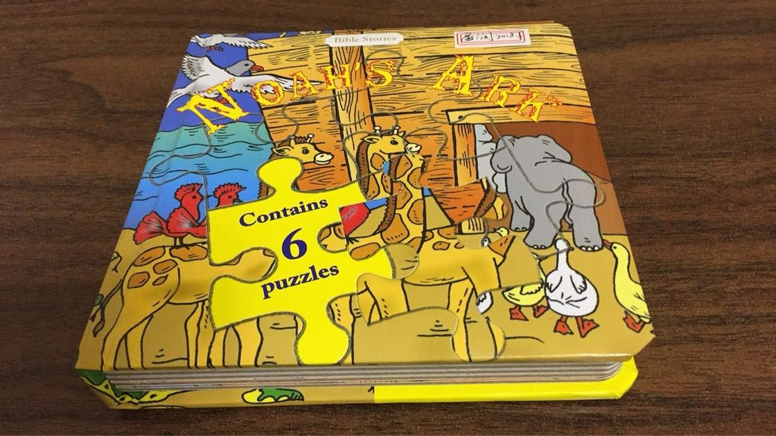 Professional Small Children'S Puzzle Books / Cute Cartoon Puzzle Story Books